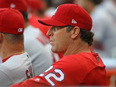 Mike Matheny is seen here as the St. Louis Cardinals manager (Getty Images)