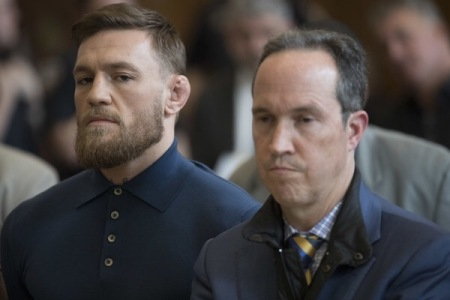 Conor McGregor in court in April (Getty Images)