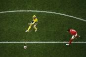 Emil Forsberg scores the game-winner against Switzerland (Getty Images)