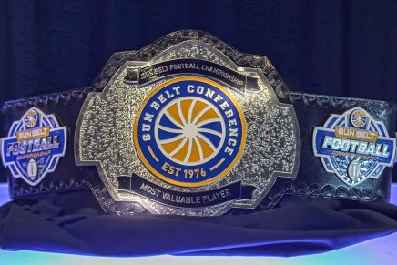 Sun Belt Conference Football MVP gets wrestling belt