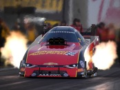 Courtney Force rockets to the top spot at Sonoma (Photo by the NHRA)