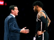 D'Angelo Russell talking to Nets head coach Kenny Atkinson (Getty Images)