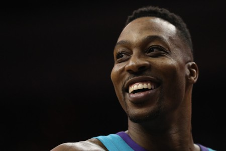 Dwight Howard is seen here as a member of the Charlotte Hornets (Getty Images)