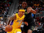 Isaiah Thomas is seen here as a member of the Los Angeles Lakers (Getty Images)