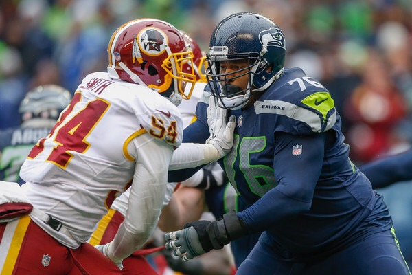 Duane Brown blocking against the Washington Redskins (Getty Images)
