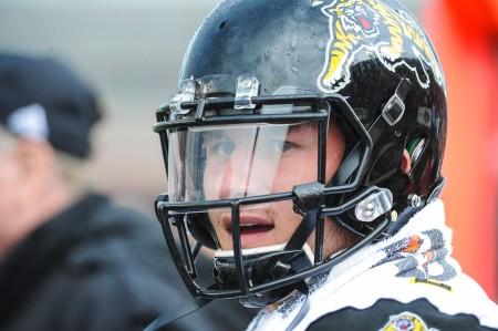 Johnny Manziel is seen here with the Hamilton Tiger-Cats (Getty Images)