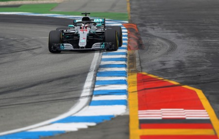 Lewis Hamilton racing on the German course (Getty Images)