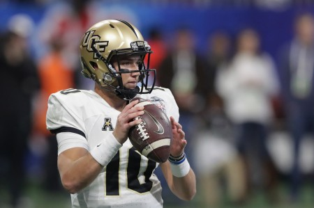 McKenzie Milton warming up before the Chick-fil-A Peach Bowl (Getty Images)