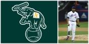 Oakland Athletics - Team logo; Jeurys Familia (Getty Images)