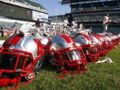 Rutgers helmets (Getty Images)