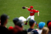 Sean Doolittle warms up prior to the MLB All-Star Game at Nationals Park (Getty Images)