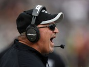 Tony Sparano is seen here as the Oakland Raiders interim head coach (Getty Images)