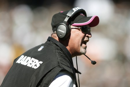 Tony Sparano is seen here as the Oakland Raiders head coach (Getty Images)