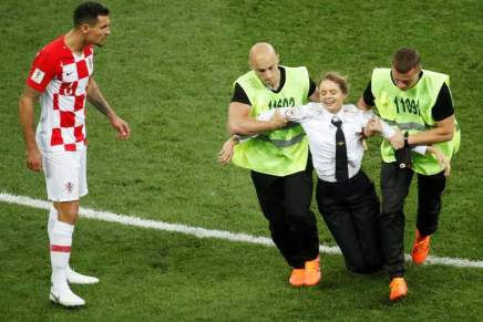 Four Protest members invade World Cup pitch