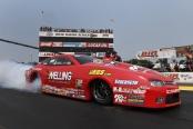 Erica Enders-Stevens racing on Saturday at Brainerd International Raceway
