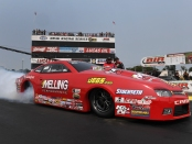 Erica Enders-Stevens racing on Saturday at Brainerd International Raceway