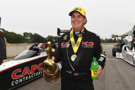 Capco Contractors Top Fuel pilot Billy Torrence wins his first race