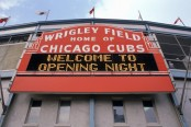 Wrigley Field, the home of the Chicago Cubs