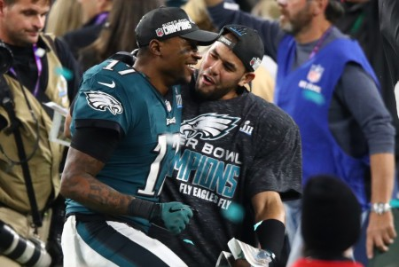 Philadelphia Eagles wide receiver Alshon Jeffery won the Super Bowl in February