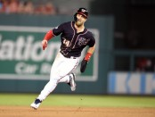 Washington Nationals star Bryce Harper running the bases during a game