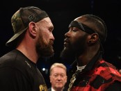 Deontay Wilder goes face-to-face with his next opponent Tyson Fury