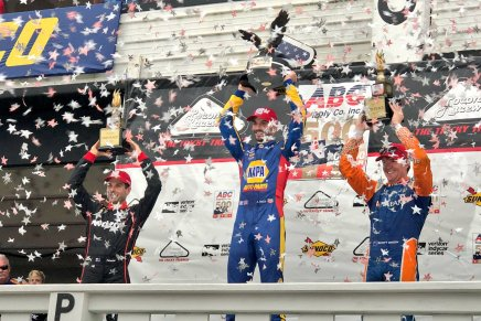 Rossi wins ABC Supply 500 after longdelay
