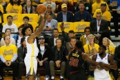 Nick Young attempts a jumper in the NBA Finals