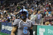 Darius Prince prepares for a kickoff with the Philadelphia Soul
