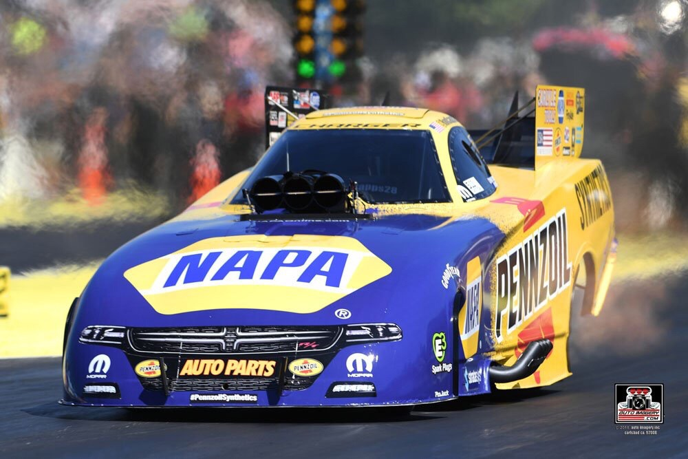 Pennzoil Funny Car Pilot Ron Capps making a pass in Seattle