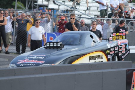 Dan Pomponio racing at Atco Dragway