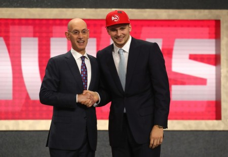 Luka Dončić being drafted in the 2018 NBA Draft