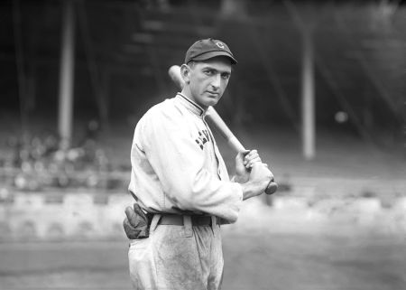 Shoeless Joe Jackson during the 1913 season with the Cleveland Naps