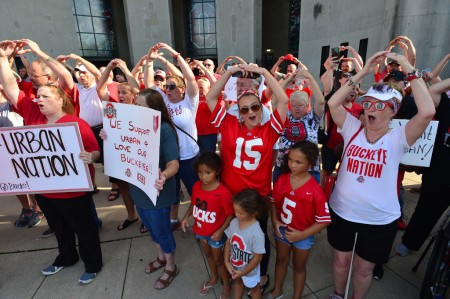 Ohio State fans rally behind embattled head coach Urban Meyer