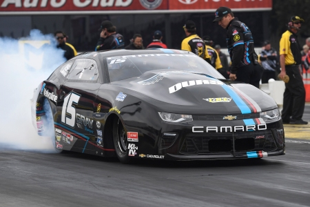 Pro Stock driver Tanner Gray is the No. 1 qualifier at the Dodge NHRA Nationals