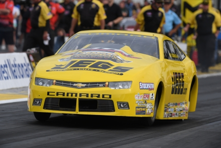 Pro Stock driver Jeg Coughlin Jr. racing on Friday at the AAA Insurance NHRA Midwest Nationals near St. Louis
