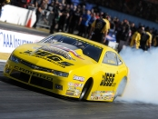 Jegs.com/Elite Performance Pro Stock driver Jeg Coughlin Jr. racing on Saturday at the AAA Insurance NHRA Midwest Nationals