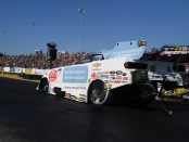 AAA of Southern California Funny Car pilot Robert Hight racing on Saturday at Gateway Motorsports Park