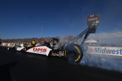 Capco Contractors Top Fuel Dragster pilot Steve Torrence racing on Saturday at Gateway Motorsports Park