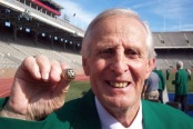 Philadelphia Eagles legend Tommy McDonald with his Championship ring