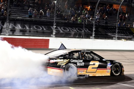 Miller Genuine Draft-sponsored Brad Keselowski wins the Bojangles' Southern 500