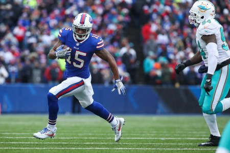 Buffalo Bills wide receiver and returner Brandon Tate runs the ball against the Miami Dolphins