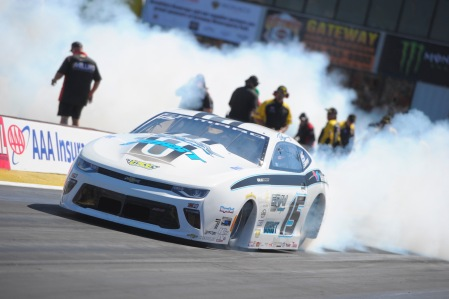Gray Motorsports Pro Stock driver Tanner Gray racing on Sunday at the AAA Insurance NHRA Midwest Nationals