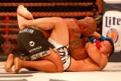 """MMA fighter Quinton """"Rampage"""" Jackson grapples with Satoshi Ishii in the main event at Bellator 157"""