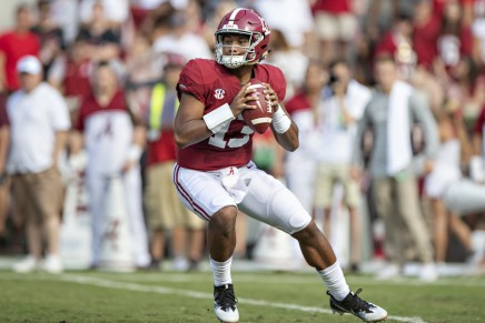 Tagovailoa accounts for 5 TD's in Tide's win over Aggies