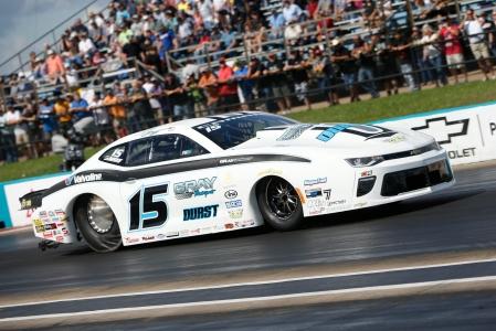 Gray Motorsports Pro Stock driver Tanner Gray racing on Sunday at the AAA Texas NHRA FallNationals