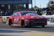 Melling Performance/Elite Performance Pro Stock driver Erica Enders-Stevens racing on Friday at the NHRA Carolina Nationals