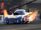 NAPA Auto Parts NIGHTVISION Lamps Funny Car pilot Ron Capps racing on Friday at the NHRA Carolina Nationals