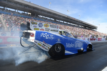 Johnson Jr. is FC No. 1 qualifier at the NHRA Toyota Nationals