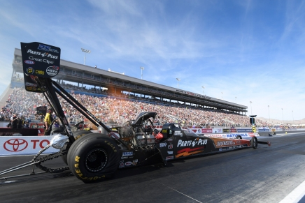 Millican rolls No. 1 qualifier at NHRA Toyota Nationals