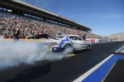 Jim Butner Auto Group Pro Stock driver Bo Butner racing on Sunday at the NHRA Toyota Nationals